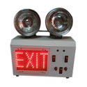 Emergency Exit Light With High Beam With Signage Glow