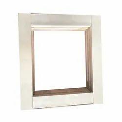 White Square Aluminium Window Frame