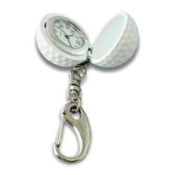 Golf Shape Clock Keychain
