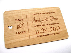 Wooden Visiting Cards, Size: Custom
