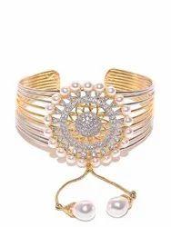 Priyaasi Fancy American Diamond Gold Plated Bracelet