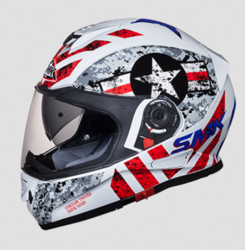 769f1ef2 SMK F/F Helmet Twister With Clear Visor With Captain Graphics (GL163 ...