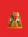 Decorative White Marble Ganesha On Chowki