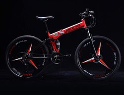 LAND ROVER Red Folding Cycle