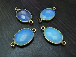 White Opal Oval Shape Briolette Connector