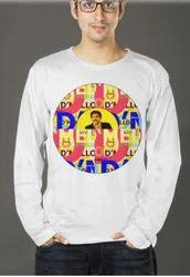 Round Figure Printed Men Full Sleeve T Shirt