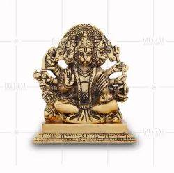 Gold Plated Panchmukhi Hanuman Idol