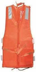 Orange Without Sleeves Life Jacket