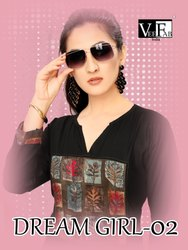 Dream Girl -2 Stylish Rayon With Dyed And Printed Kurtis