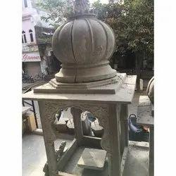 Grey RCC Cement Temples, Size: 8x3.5 Feet