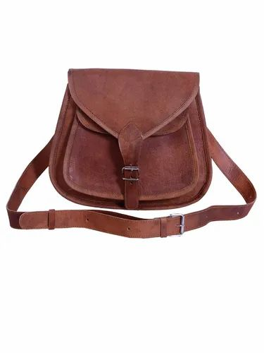 Women Light Brown Leather Side Bag 312650904267a
