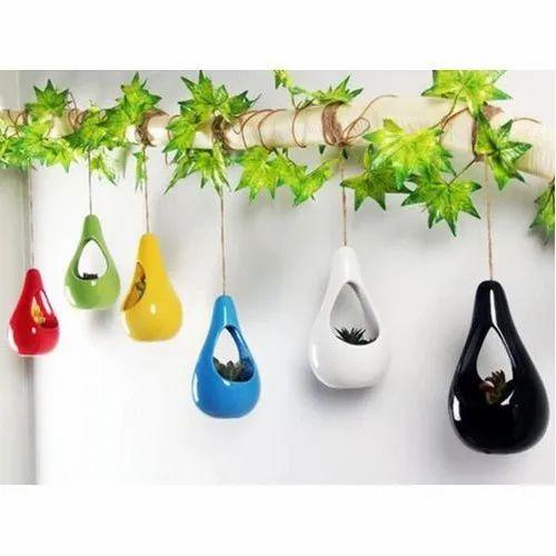 Plain Ceramic Hanging Planter For Balcony Rs 90 Piece M S Sana Craft Id 21268018948