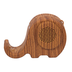 Elephant Shape Wooden Bluetooth Speaker