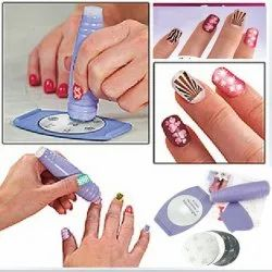 Saloon Express Nail Art Stamping Kit Professional Nail Polish Art Kit Decals Paint Stamp