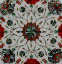 Stone Pietra Dura Marble Inlaid Coffee Table Top