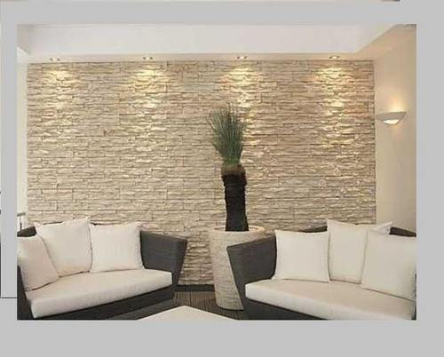 Grey Checkered Living Room Wall Cladding
