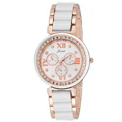 Jainx White Dial Swiss Pattern Analog Watch for Women & Girls JW541