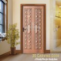 Wpc Hinged 3d Door, Thickness: 24mm Or 28mm