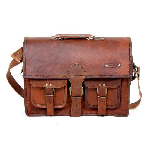 65b3ef415799 Brown Mens Leather Laptop Bag