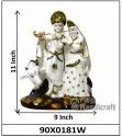 Marble Look Lord Radha-Krishna Statue Indian God Idol