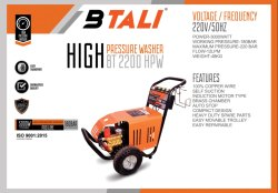 High Pressure Washer Btali BT 2200 HPW