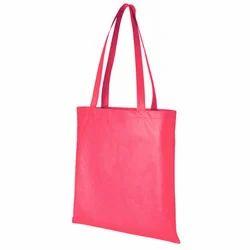 Plain Red Cotton Bag, Size: W-38 X H- 40 X G-10 cm