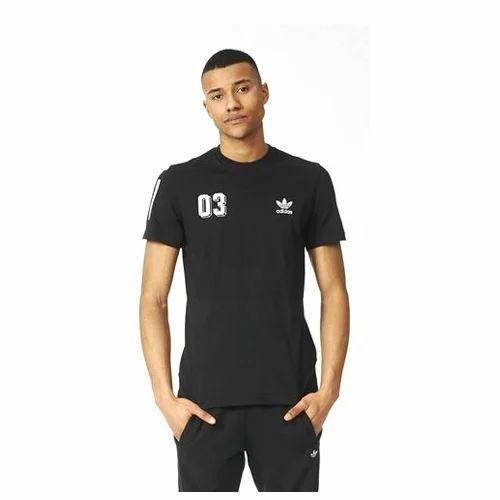 4fd94aa1 Adidas Black Mens Polyester Dri Fit T-Shirt, Rs 200 /piece | ID ...