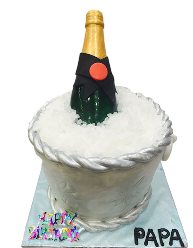 Champagne For Dad Cake