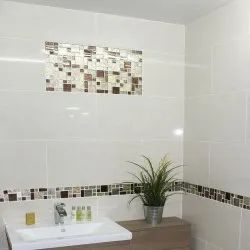 Ceramic White Eden Wall Tile, Thickness: 5-10 mm