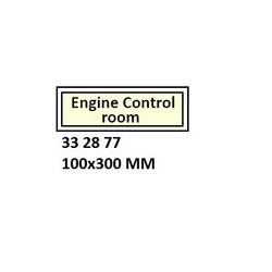 Deck and Engine Room Signage