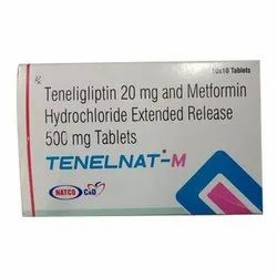 Teneligliptin 20 mg And Metformin Hydrochloride Extended Release 500 mg Tablets