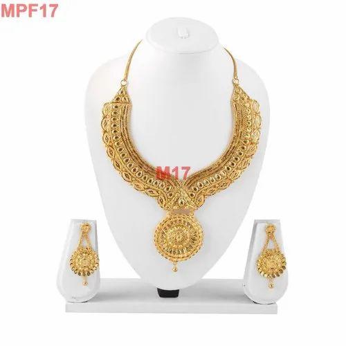 Indian Gold Plated Pendant Necklace Beautiful Bollywood Style Jewelry Sale À¤¸ À¤¨ À¤šà¤¢ À¤¹ À¤° Poojamani Jewellers Llp Mumbai Id 20656916433