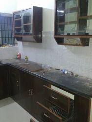 L Shaped PVC Modular Kitchen
