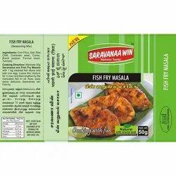 Saravanaa Win Spicy Fish Fry Masala, Packaging Type: Box, Packaging Size: 50gm