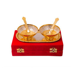 Silver Gold Plated Special Capsul Set