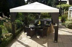 Rattan Garden Gazebo With Canopy