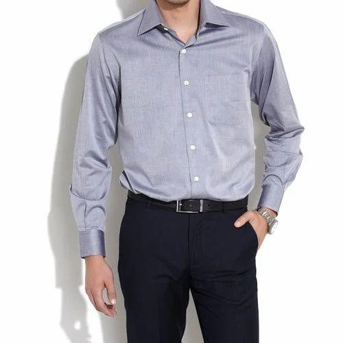 Blue And Black Cotton Men's Office Uniform, Size: XL, Rs ...