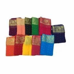 Digital Print Party Wear Chiffon Saree, 6 m (with blouse piece)