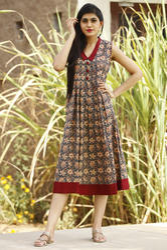 Cotton Discharge Designer Wear Kurti