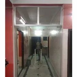 Fixed Toughed Glass Door, For Office, Thickness: 12mm