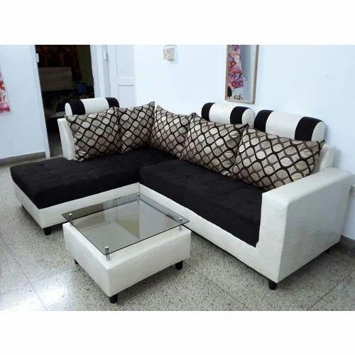 Wooden L Shape 5 Seater Sofa Set, Rs 4000 /seat, Chetan Furniture ...