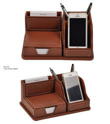 Leather Table Top Mobile Stand