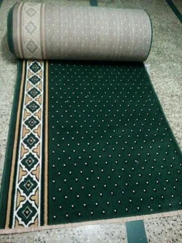 Green Polypropylene 8.mm Masjid Carpet