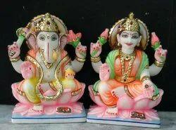 Marble Ganesh Laxmi Statue