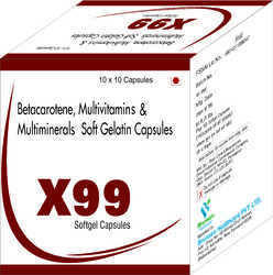 Betacarotene Multivitamins and Multiminerals Soft Gelatin Capsules