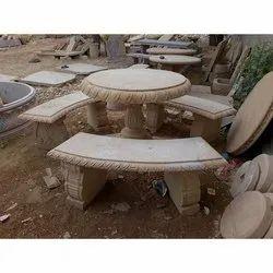Round Marble Bench