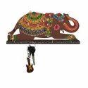 Wooden Hook Elephant Design Key Holder, Packaging Type: Box