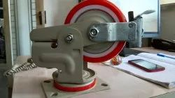 Pu Wheel With Spring Castor