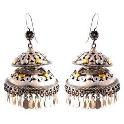 Double Layer Golden Oxodise Jhumki