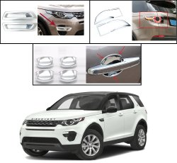 Carsaaz Exterior Chrome Accessories Combo Kit For Land Rover Discovery Sport(Set Of 8 Pcs)